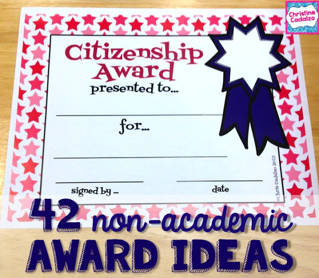 End of the Year Awards that are Non-Academic