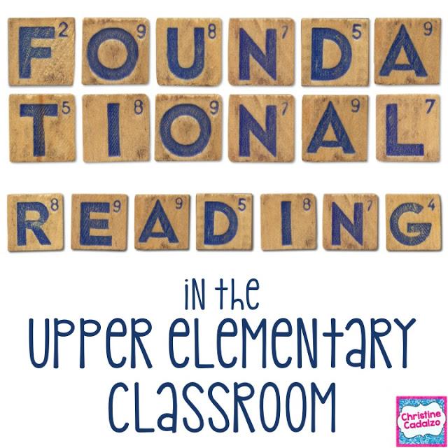 Foundational Reading in Upper Elementary