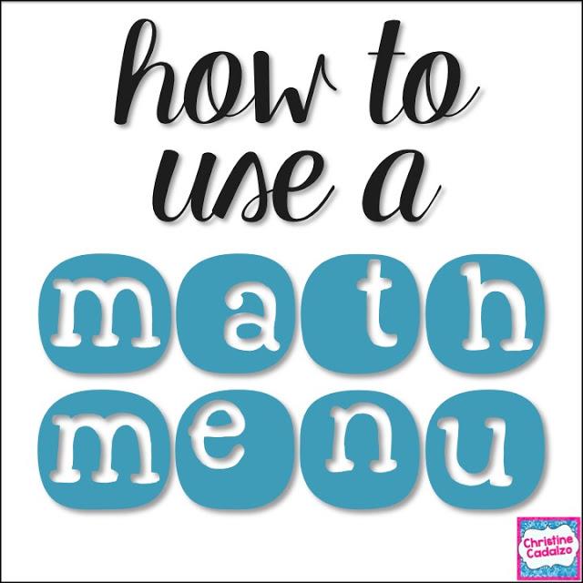How to Use a Math Menu